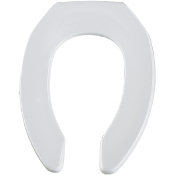 Sloan Fixture Toilet Seat - Open Front, Less Cover, Elongated
