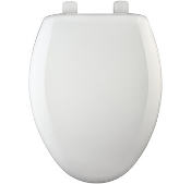 Bemis Closed Front, With Cover, Elongated Toilet Seat-White