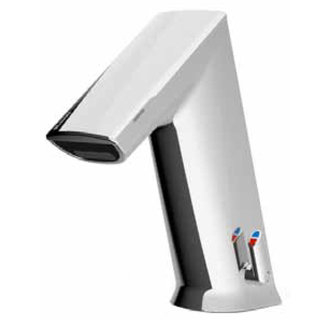 Sloan Basys Mid Faucet With Integral Side Mixer